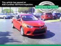2014 Toyota Corolla Le Our Location is: Enterprise Car