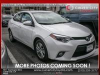 Options:  2014 Toyota Corolla Le Eco|White|Toyota