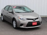 Options:  2014 Toyota Corolla Le Eco|Brown|Accident