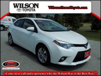 Clean CARFAX. Certified. Blizzard Pearl 2014 Toyota
