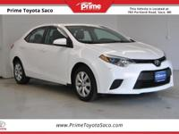 Toyota Certified! Carfax One Owner! 2014 Toyota Corolla