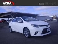Used 2014 Corolla, 43,368 miles, options include: