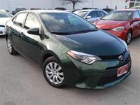 Corolla LE and 4D Sedan. Going green starts at the