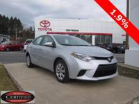 ONE OWNER!! 2014 COROLLA LE!! TOYOTA CERTIFIED 7