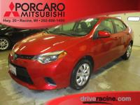 Options:  2014 Toyota Corolla Le|Red|Ash W/Fabric Seat