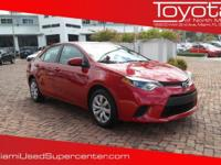 Options:  2014 Toyota Corolla Le|Barcelona Red