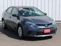 Options:  2014 Toyota Corolla Le|Gray|Accident Free