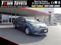 Options:  2014 Toyota Corolla Le|Front Wheel Drive|