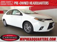 2014 Toyota Corolla LE Premium. One careful owner and
