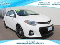 **2014 Toyota Corolla S**, *BALANCE OF FACTORY