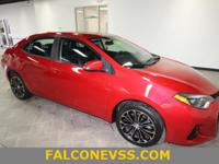 New Price! Clean CARFAX. Red 2014 Toyota Corolla S FWD