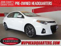 2014 Toyota Corolla S Plus. A clean, one owner sport