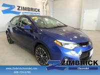 Options:  2014 Toyota Corolla 4Dr Sdn Cvt S Plus