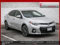 Options:  2014 Toyota Corolla S Plus Silver Toyota