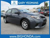 This 2014 Toyota Corolla Includes. CLEAN CARFAX NO