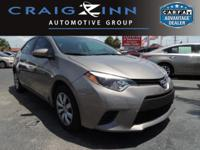 Certified Vehicle! This 2014 Toyota Corolla will sell