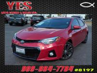 Options:  2014 Toyota Corolla S|**Internet Price**