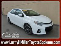 Dealer Certified Pre-Owned. This Toyota Corolla boasts