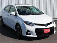 Options:  2014 Toyota Corolla S|White|Abs