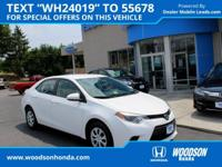 Corolla L, 6-Speed Manual, ABS brakes, Electronic