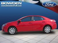 2014 TOYOTA COROLLA Sedan LE. Our Location is: Bowden