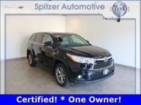 Toyota Highlander XLE V6 CARFAX One-Owner. Certified.