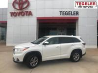 2014 Toyota Highlander LE Plus V6 White AWD 6-Speed