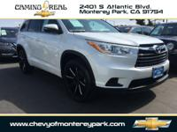 Our Clean CarFax 2014 Toyota Highlander LE in Blizzard