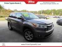 New Price! 2014 Toyota Highlander XLE V6 in Gray. AWD.