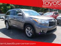 Options:  2014 Toyota Highlander Xle V6|Predawn Gray