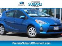 Clean CARFAX. Blue 2014 Toyota Prius c Two FWD CVT 1.5L