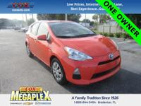 This 2014 Toyota Prius c One in Habanero is well