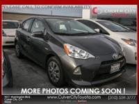 Options:  2014 Toyota Prius C One|Gray|Toyota Certified