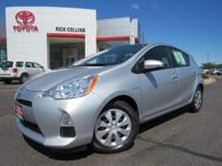 This 2014 Prius C comes equipped with Bluetooth, CD