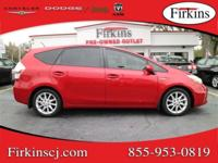 New Price! CARFAX One-Owner. Red 2014 Toyota Prius v