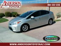 Toyota Certified Hybrid. One-Owner. 51/48 City/Highway