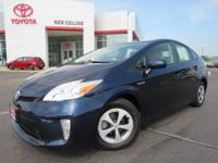 Great fuel economy!! This 2014 Toyota Prius comes with