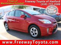 CARFAX One-Owner. Clean CARFAX. Red 2014 Toyota Prius