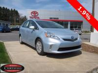 ONE OWNER!! 2014 TOYOTA PRIUS V!! SERIES III, FUEL