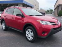CARFAX One-Owner. Clean CARFAX. Red 2014 Toyota RAV4 LE