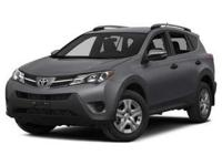 Step into the 2014 Toyota RAV4! A great vehicle and a