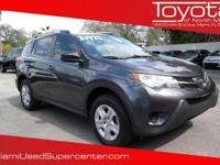 Options:  2014 Toyota Rav4 Le Magnetic Gray
