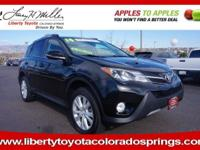 Toyota Certified, CARFAX 1-Owner. BLACK exterior and