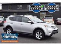 - Certified pre-owned! - clean carfax! - one owner! -