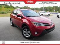 New Price! Certified. 2014 Toyota RAV4 XLE in Red. AWD,