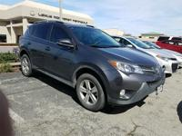 2014 Toyota RAV4 XLE in Gray starred featured include,