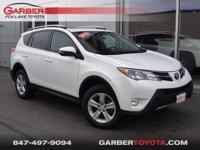 New Price! 2014 Toyota RAV4 XLE White     Odometer is