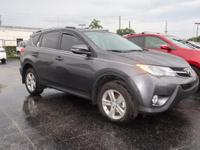 CARFAX One-Owner. Gray 2014 Toyota RAV4 XLE FWD 6-Speed