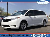 Gasoline! Ready to roll! This 2014 Sienna is for Toyota