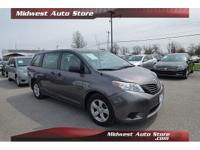 2014 Toyota Sienna L 7 Passenger Gray CARFAX One-Owner.